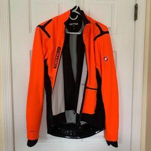 Castelli Alpha Ros Jacket - Men's XL Orange/Black